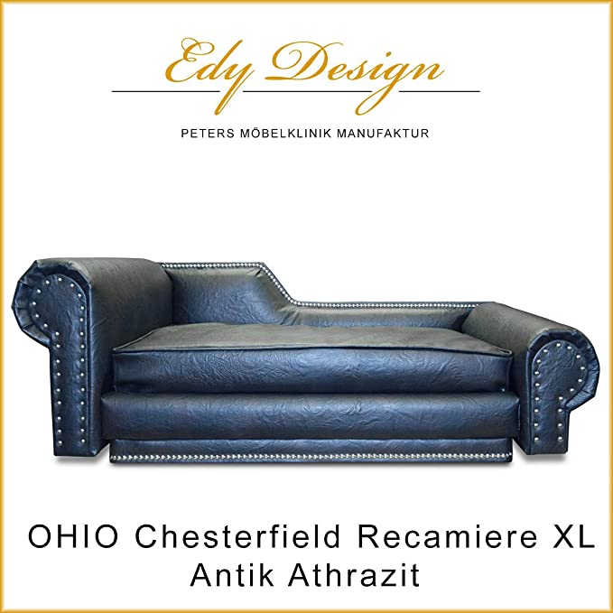 Perros sofá Ohio Recamiere Chesterfield XL - Colchón ...