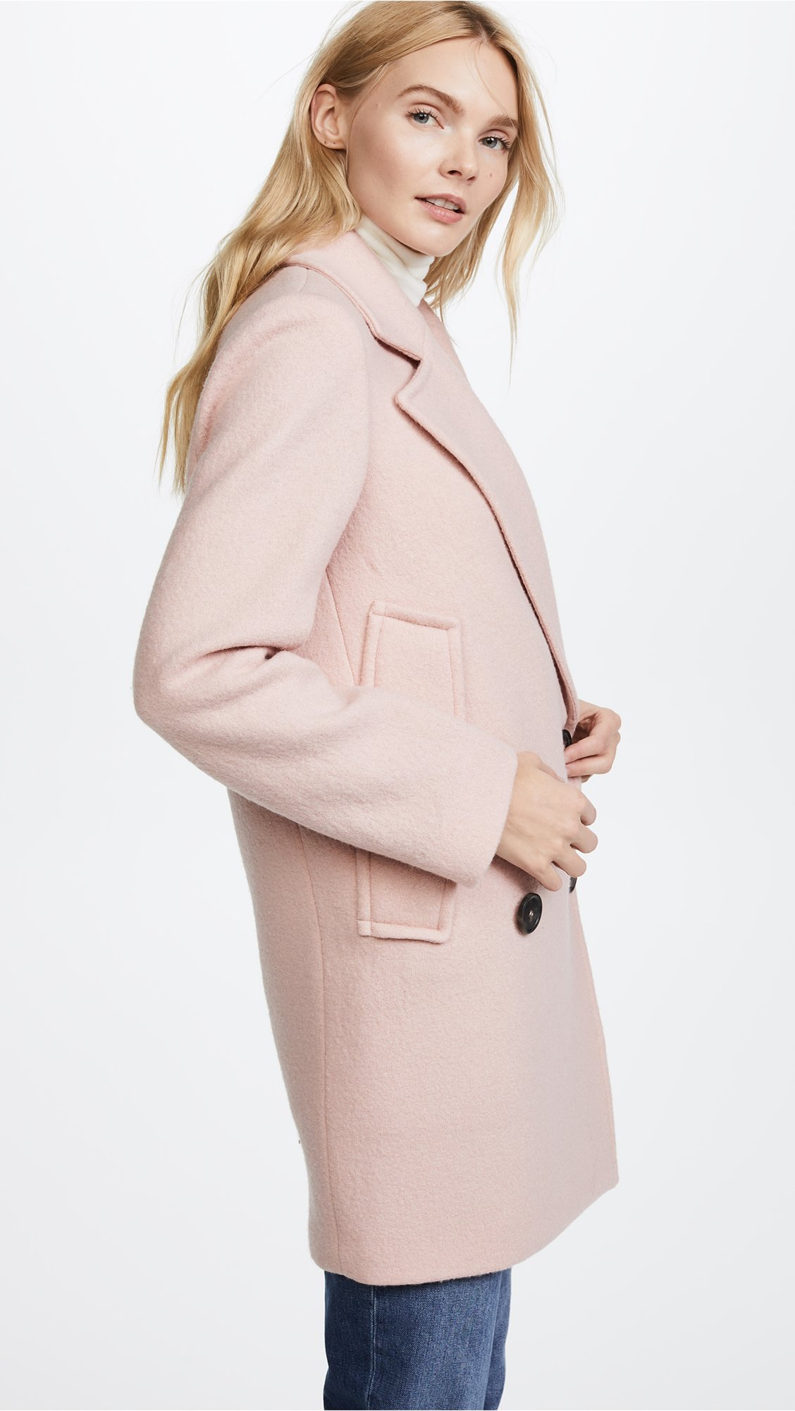 Theory Women's Cape Coat, Chalk Pink, S by Theory (Image #4)