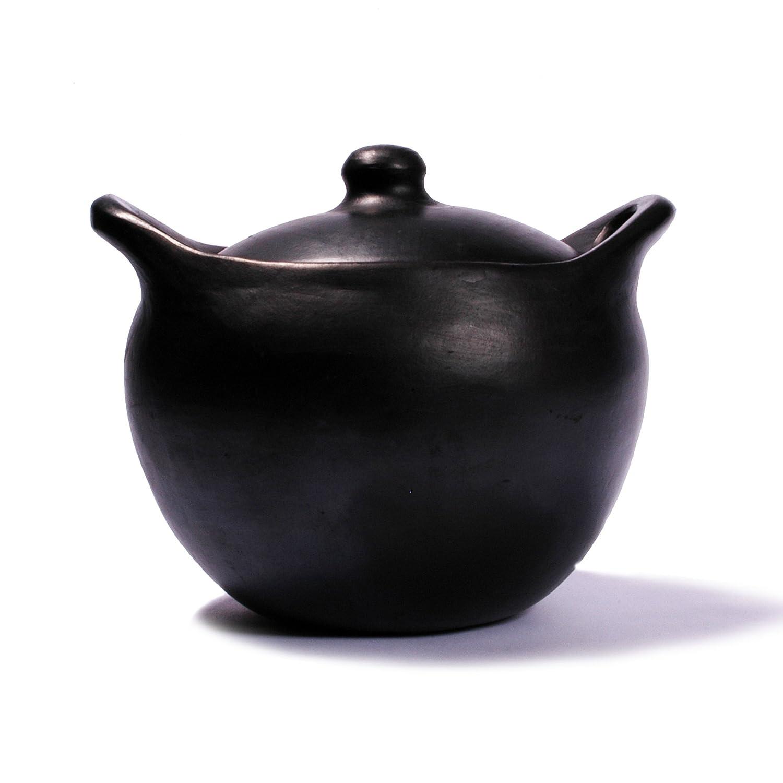 Black Clay, La Chamba Rounded Soup Pot - Small - 2.5 Quarts
