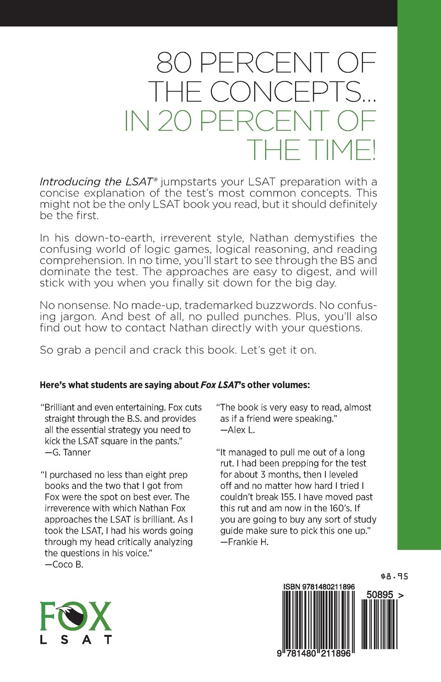 Introducing the LSAT: The Fox Test Prep Quick & Dirty LSAT Primer: Nathan  Fox: 9781480211896: Books - Amazon.ca