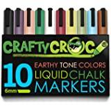 Crafty Croc Liquid Chalk Markers, 10 Pack Earth Colored Ink Pens