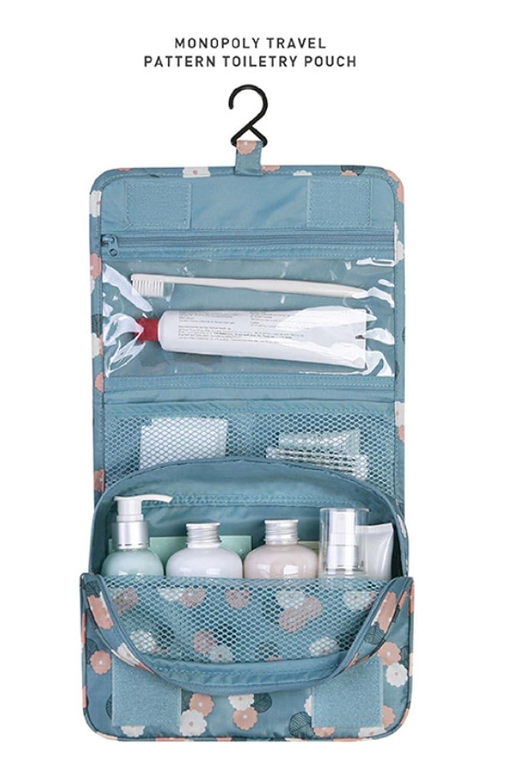 Leisial Impermeable Bolso de Lavado Colgante Bolsa del Organizador Maquillaje Neceser para Colgar Viaje Gran Capacidad para Hombres Mujeres