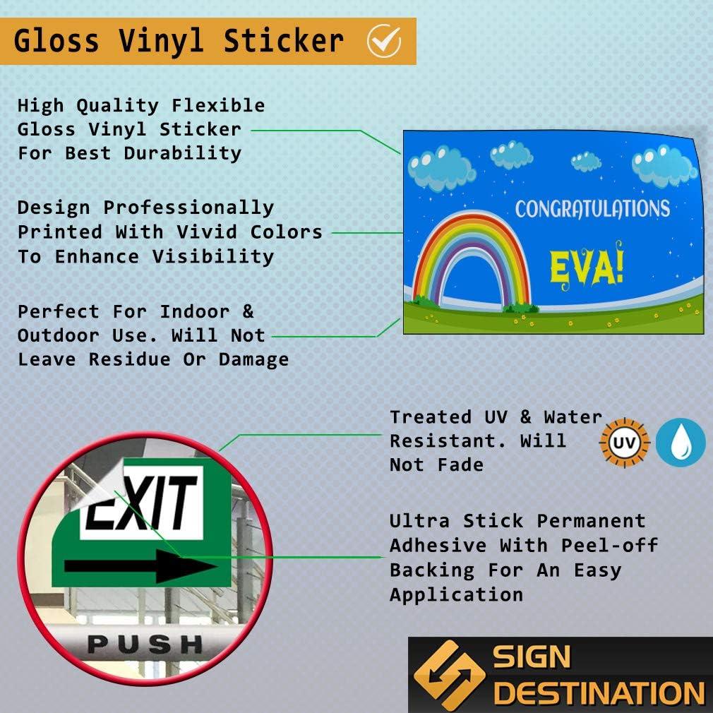 Stripes Blue Wind-Resistant Outdoor Mesh Vinyl Banner Open 24//7 9x3 CGSignLab