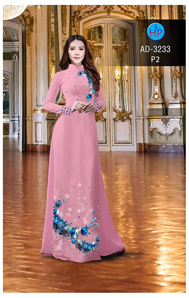 ADVN1129 Ao Dai All Size Traditional Vietnamese Long Dress Collections with Pants Silk 3D