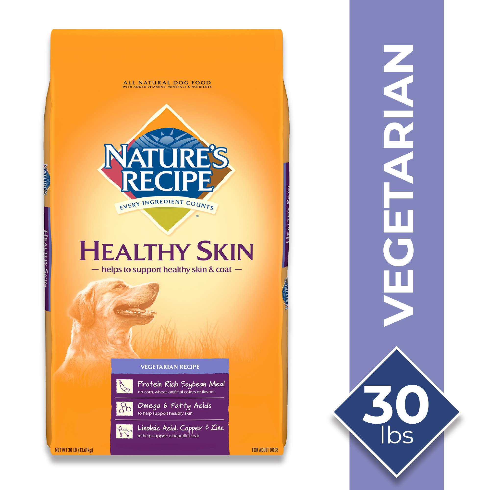 Nature's Recipe Healthy Skin Vegetarian Recipe Dry Dog Food, 30 Pounds by Nature's Recipe