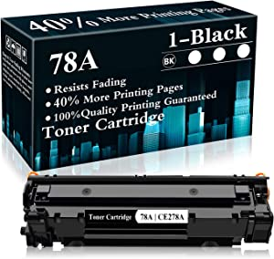 1 Black 78A | CE278A Toner Cartridge Replacement for HP Laserjet Pro P1606dn P1606 P1566 P1560 M1536dnf MFP M1537dnf MFP M1538dnf MFP M1530 MFP Printer,Sold by TopInk