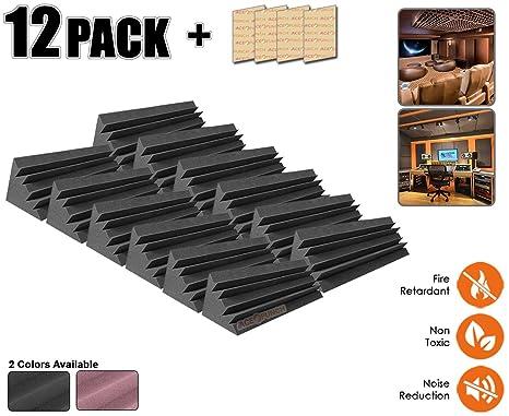 Acepunch 12 piezas NEGRO Largo Trampa para Bajos Acústico Insonorización Insulation Espuma 12 X 12 X