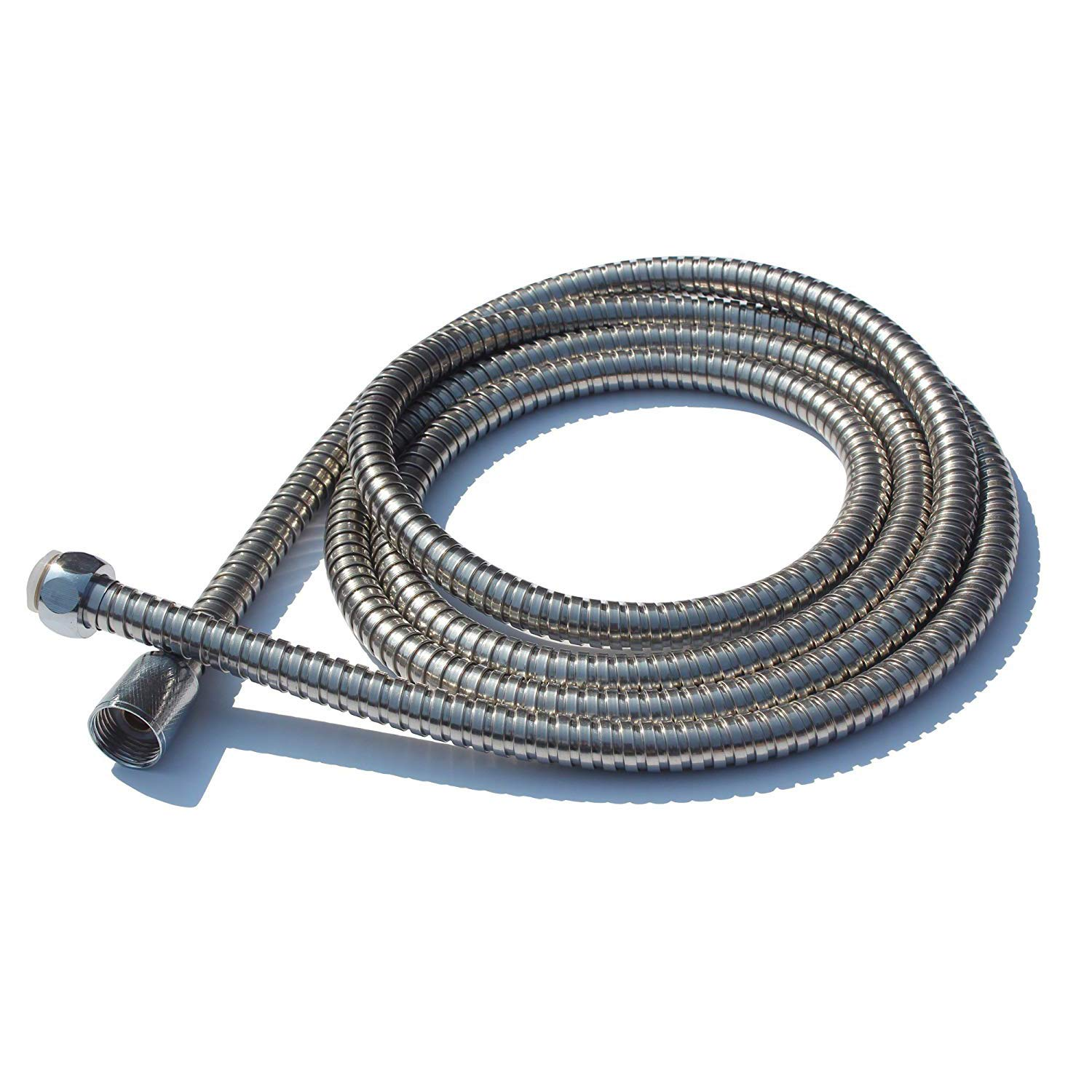 Anti-Explosion Leakproof Flexible Stainless Steel 2.0-Meter Extra Long Shower Hose Flexible Anti-kink Stainless Steel Replacement Shower Pipe Chrome LLRY