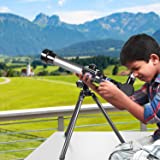 Telescope for Kids, Science Telescope with Tripod 3 Eyepieces, Portable Astronomical Telescope Educational Gift for Children & Beginners