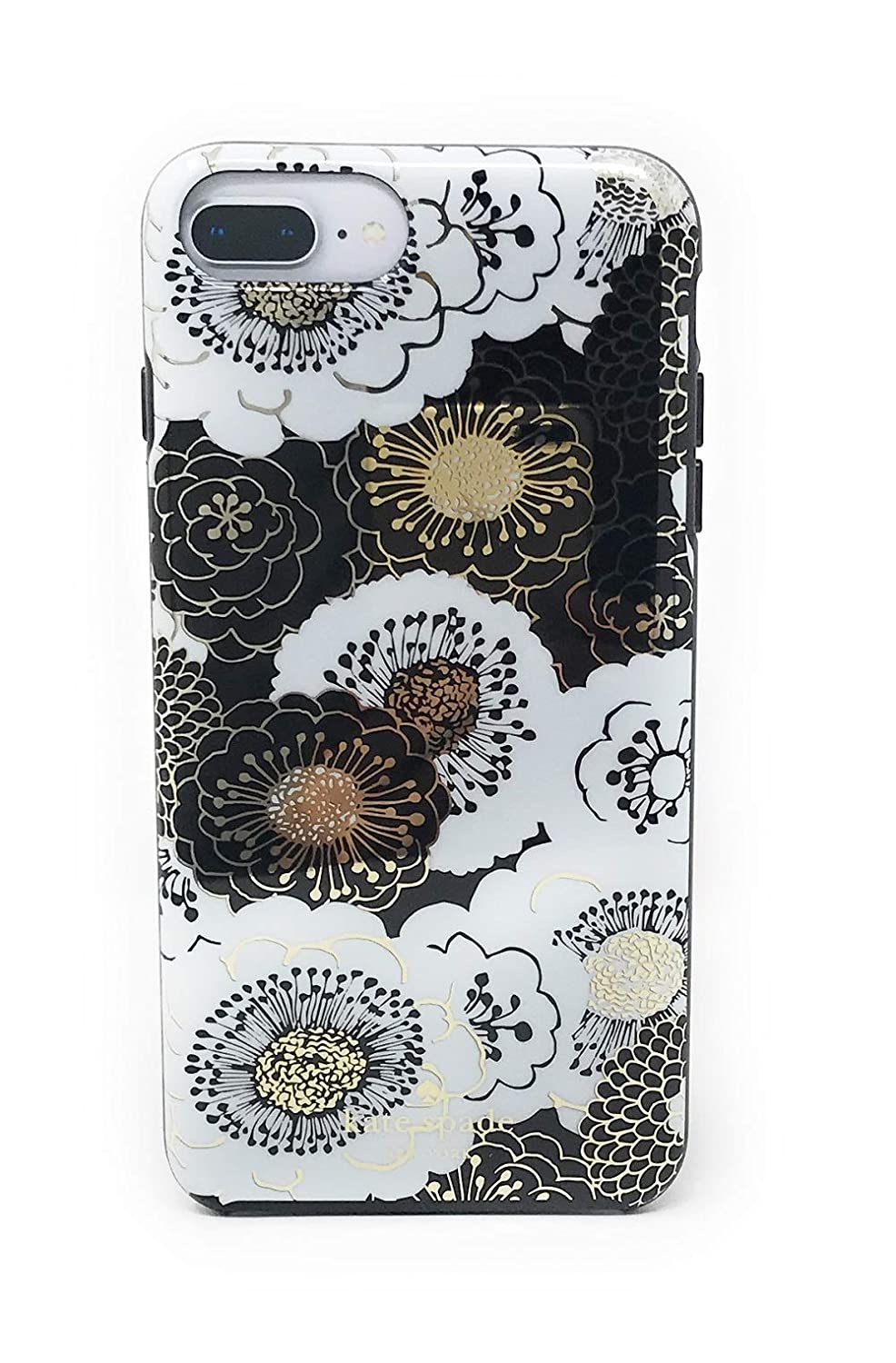 Kate Spade New York Floral Case for iPhone 8 Plus / iPhone 7 Plus / iPhone 6 Plus - Black/Gold/White