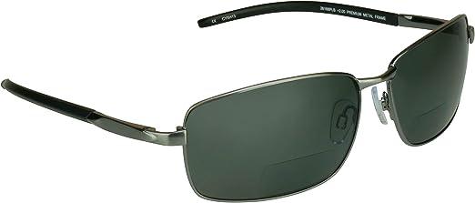 proSPORTsunglasses Gafas De Sol Polarizadas Bifocales Con Lentes Polarizadas Premium Tac Y Duradero Níquel Marcos De Metal De Alta. De Los Hombres Medio