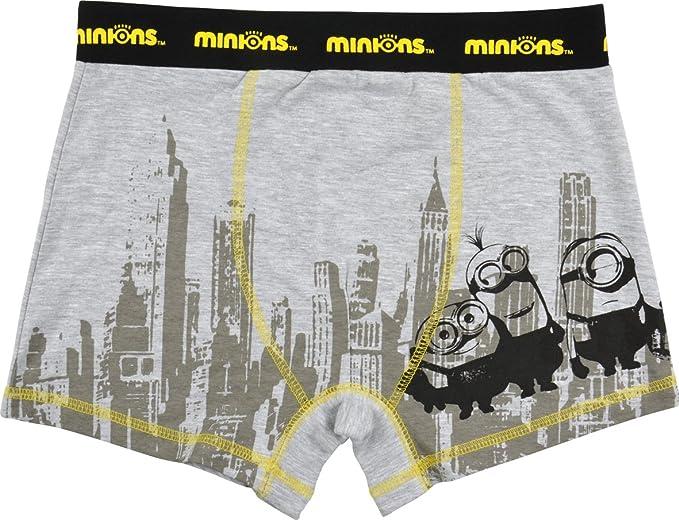 09da25800909e5 Boxer da uomo con Minions, motivo New York, colore grigio Grey M ...