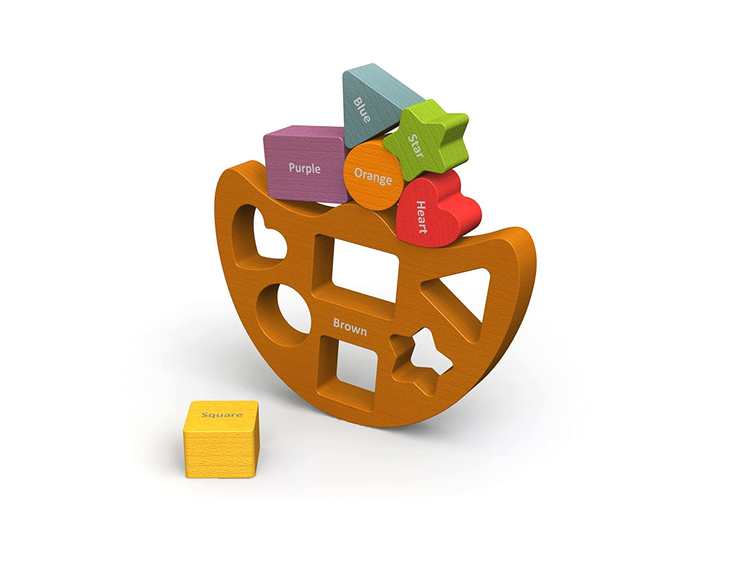 BeginAgain Balance Boat Shapes and Colors Make Learning Fun and Help Spark Your Child's Imagination Perfect for Learning Color Names Shapes and Spatial Awareness For Kids 2 and Up