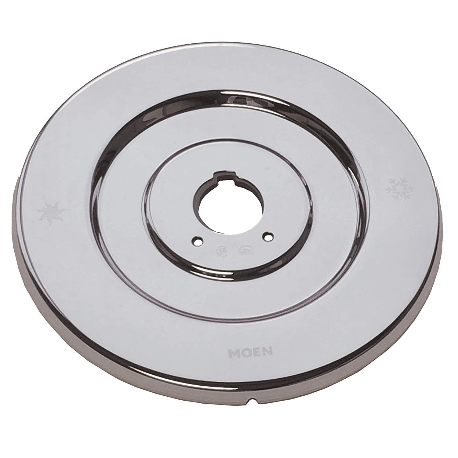Moen 16090 Chateau Collection Replacement Escutcheon for One-Handle Tub and Shower Faucets, Chrome