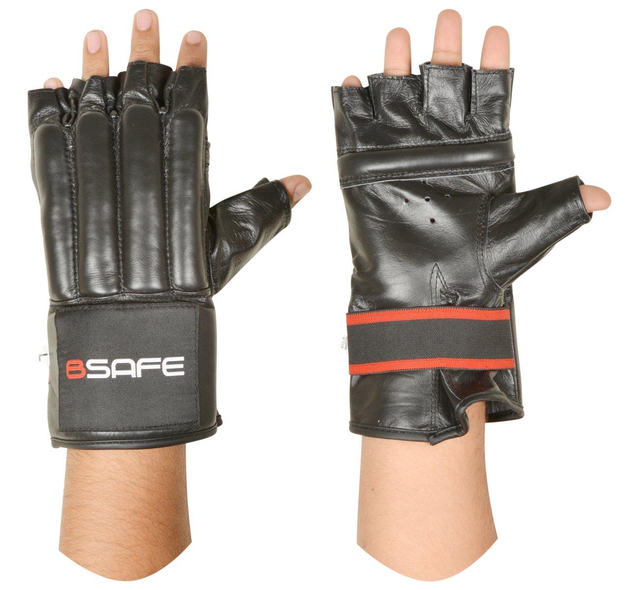 BSafe vaca ocultar piel cuerpo guantes Gel MMA boxeo saco de boxeo artes marciales Karate guante
