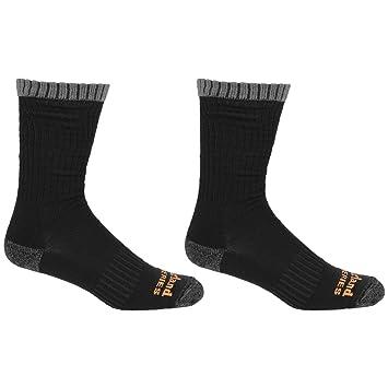 Timberland Pro - Calcetines de trabajo de lana merino para hombre (paquete de 2 pares) (41-46 EU/Negro): Amazon.es: Deportes y aire libre