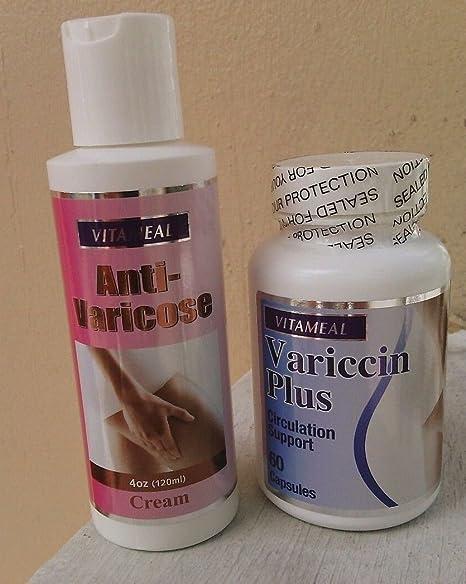 Amazon.com : Variccin Plus (60 capsules) & Anti Varicose cream Circulation Support : Beauty