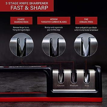 Amazon.com: Chefs Sharpener CS-T01 - Afilador de cuchillos ...