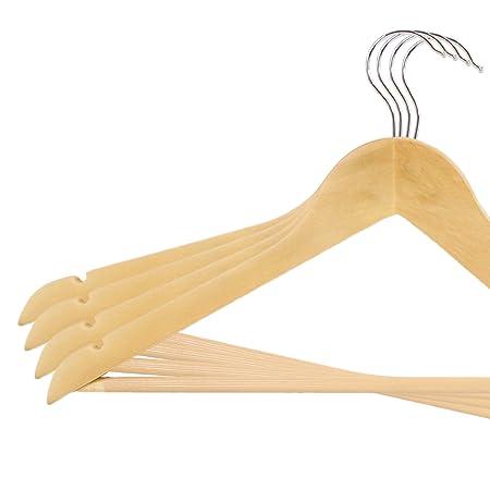 Natur mit Rockkerben und Hosensteg 1 f/ür Kleidung Jacken Sakko Anzug Blusen Hosen B/ügel Anti-Rutsch B/ügel H/&Z 1-100 Kleiderb/ügel aus Ahornholz