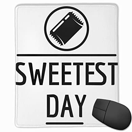 fc4c5940e6b1 Amazon.com : Padida Mouse Pad Sweet Day Logo Simple Style Mousepad ...