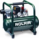 Rolair JC10 1 HP Oil-Less Compressor with Overload Protection and Low RPM for Quiet Operation