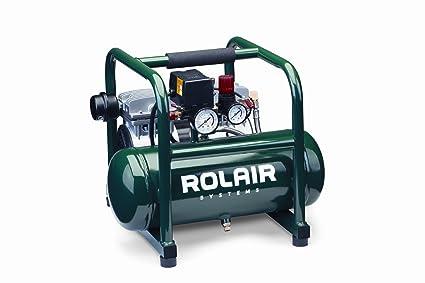 Rolair JC10 1 HP oil-less Compresor con protección de sobrecarga y bajo rpm para