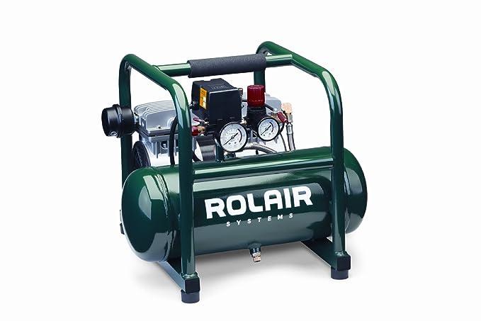 Rolair JC10 1 HP oil-less Compresor con protección de sobrecarga y bajo rpm para un funcionamiento silencioso: Amazon.es: Bricolaje y herramientas