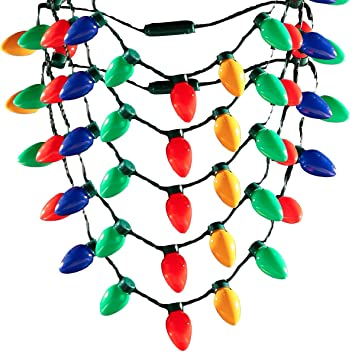 Image Unavailable. Image not available for. Color: LED Light Up Christmas  Bulb Necklace ... - Amazon.com: LED Light Up Christmas Bulb Necklace String Light Party