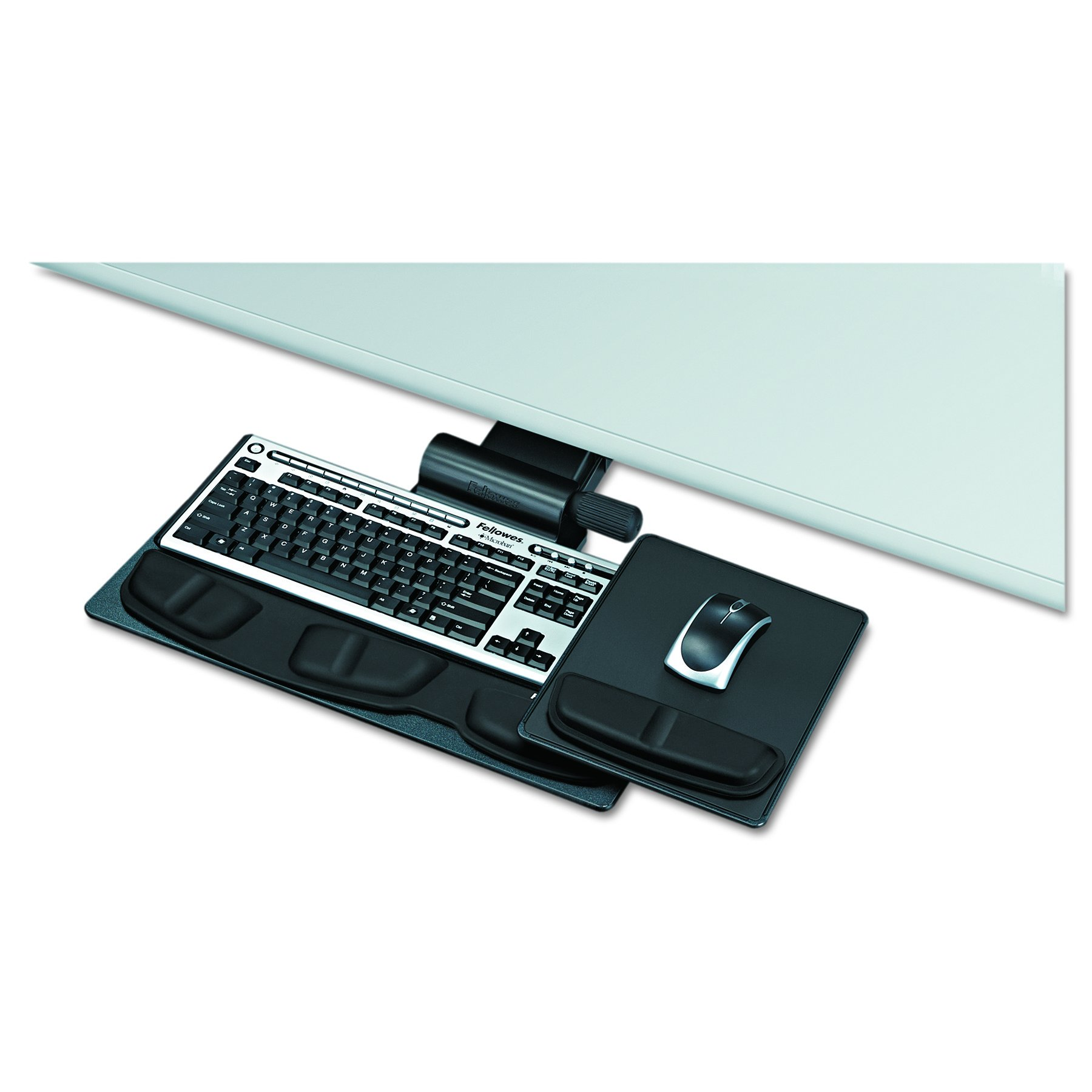 Fellowes 8036001 Professional Premier Series Adjustable Keyboard Tray, 19w x 10-5/8d, Black by Fellowes (Image #2)