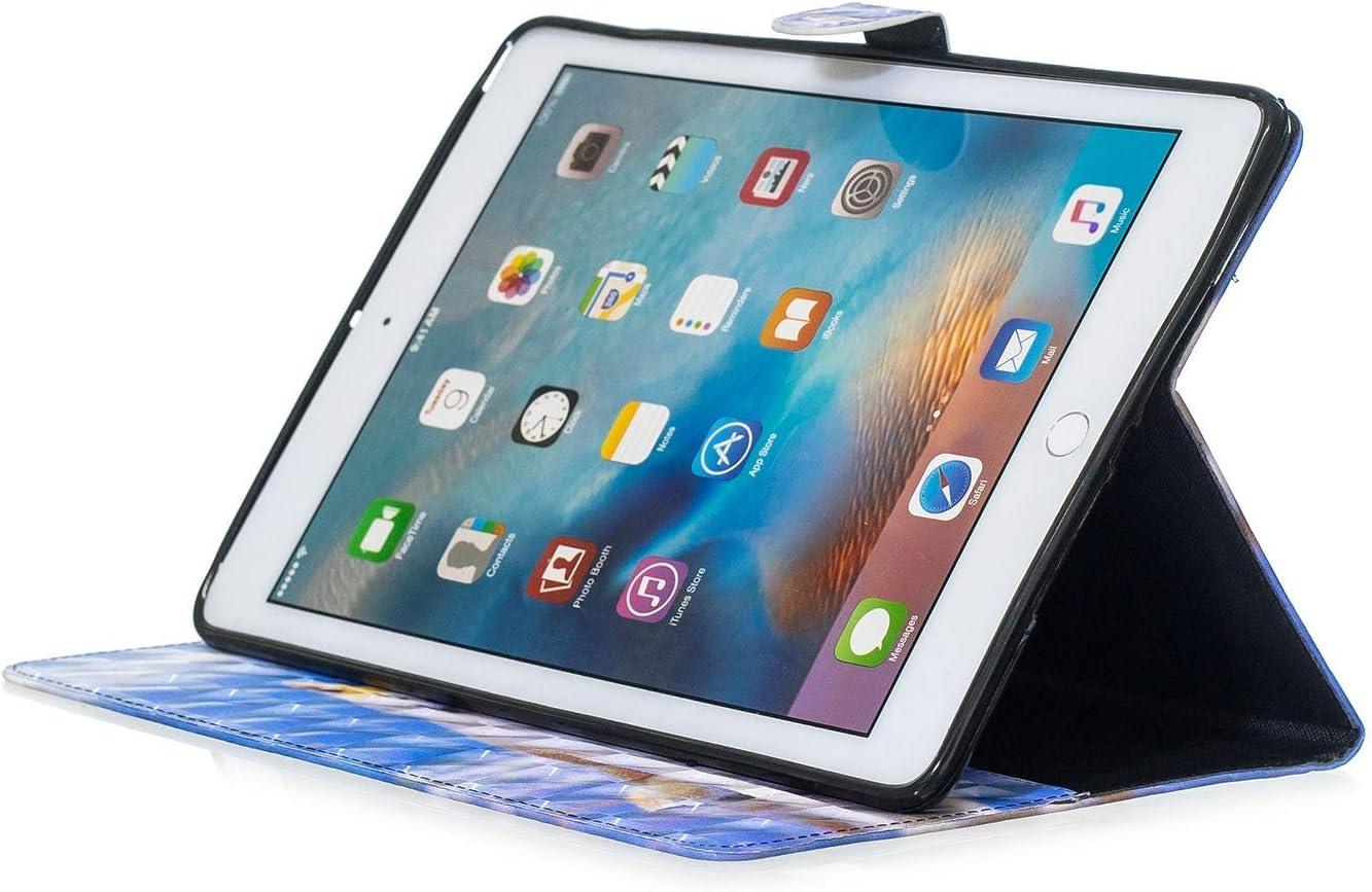 QPOLLY Housse Compatible avec Samsung Galaxy Tab A 10.1 SM-T580//T585 Cuir Ultra-Mince Cute Motif Flip Support Etui a Rabat Coque pour Tablette Tactile /Étui Housse Anti-Choc Cover avec Support-5