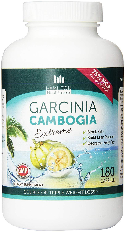Hamilton Healthcare 75% Hca Super Strength Garcinia Cambogia Extreme Fast Acting Capsules, 180 Count