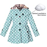 Girl's Long Sleeves Chino Cotton Winter Quilted