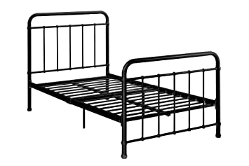 dhp brooklyn metal iron bed w headboard and footboard adjustable height 7 - Sturdy Bed Frames