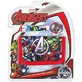 Kids Euroswan Set cadeau avec horloge numérique et portefeuille modèle Avengers, composite, multicolore, 25x 7x 20cm