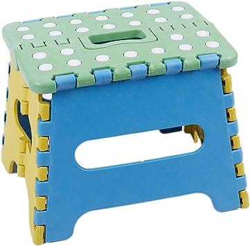 RMJAI Taburetes Escalera Taburete Plegable Asiento Plegable Paso, Plástico, hasta 150 kg Plegable 22x17x18 Cm: Amazon.es: Electrónica