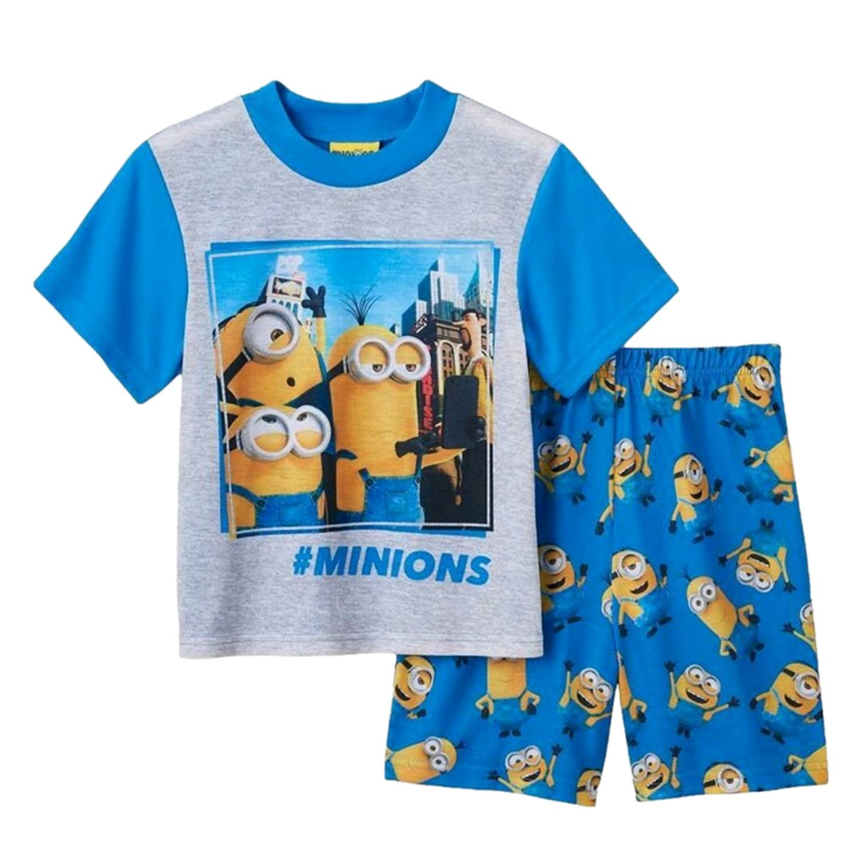 Despicable Me Boys #Minions Pajamas T-Shirt /& Shorts Set