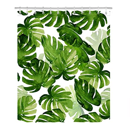Amazon LB Watercolor Tropical Monstera Leaves Pattern Print Fascinating Tropical Leaves Pattern