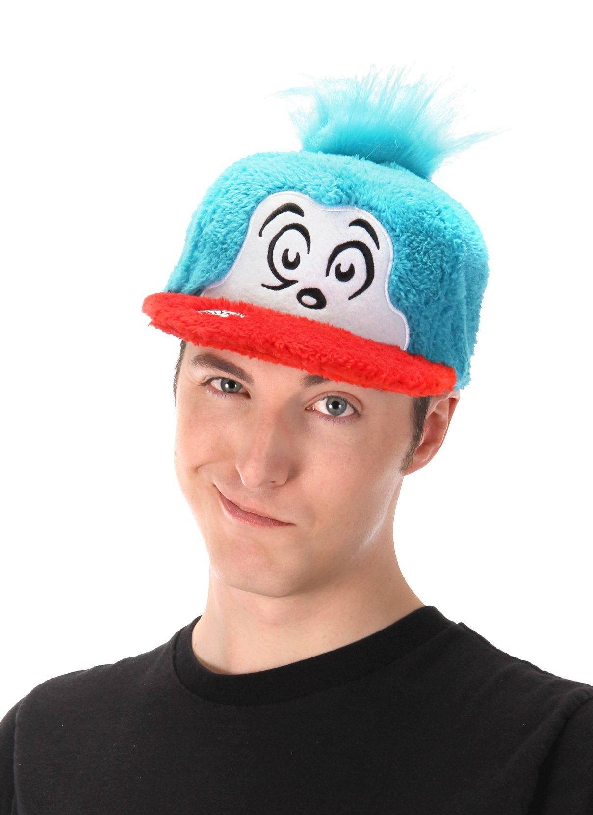 Dr. Seuss Thing 2 Cat in The Hat Costume Fuzzy Cap