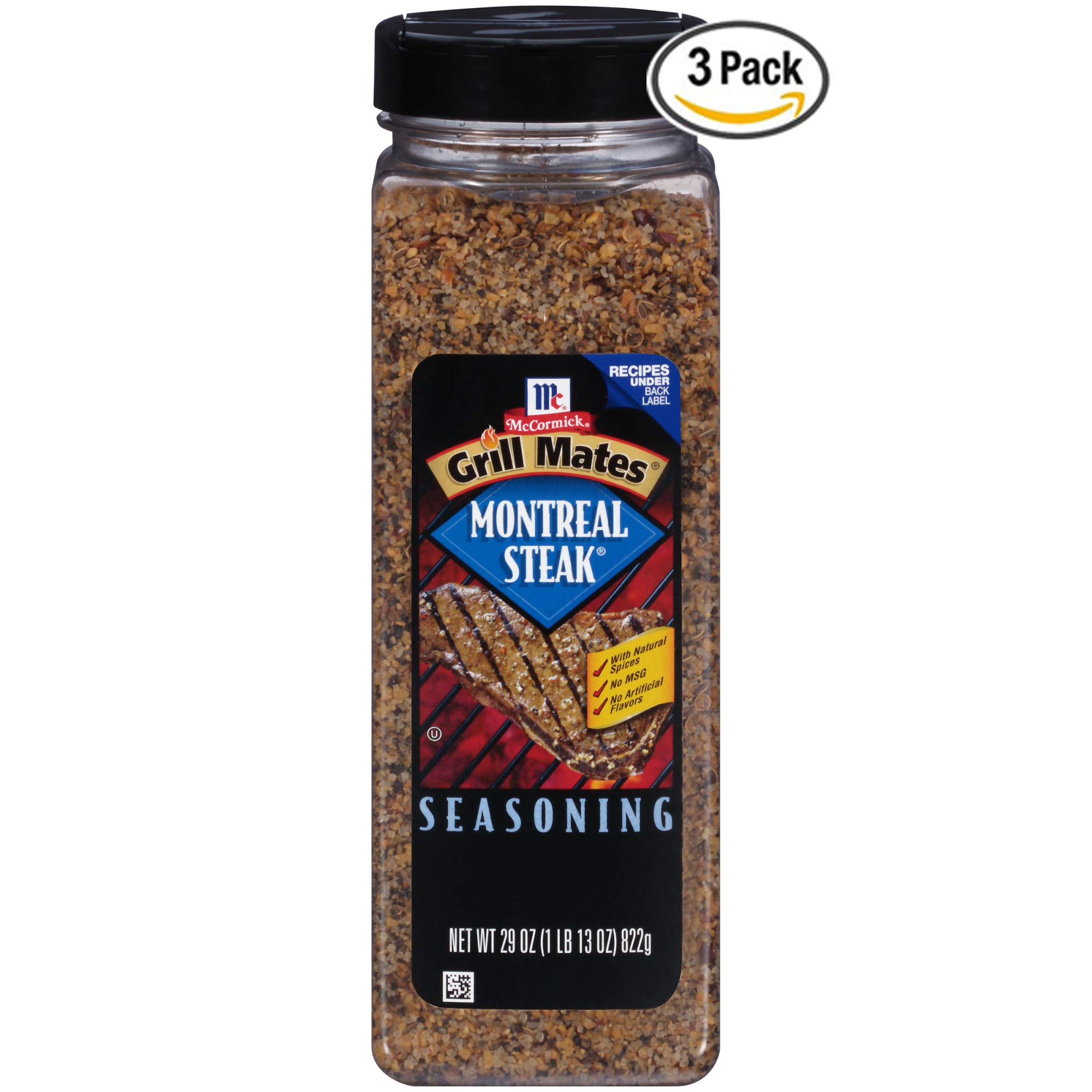 McCormick Grill Mates Montreal Steak Seasoning, 29 oz. - Pack of 3