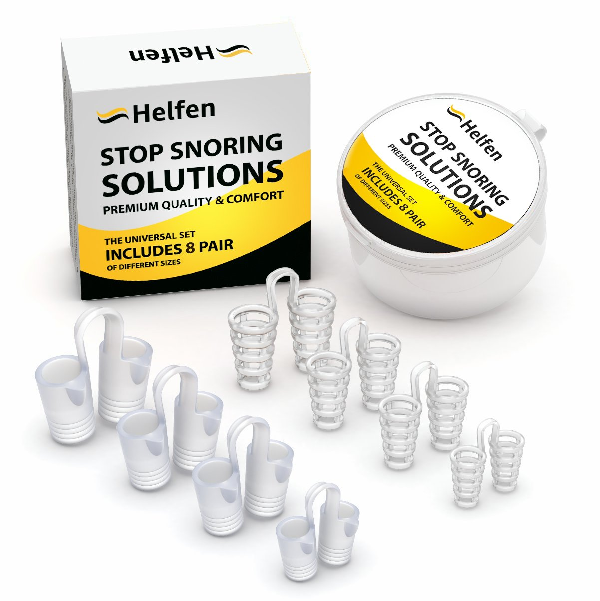 Anti Snoring Devices - Snoring Solution - Snore Stopper Set - Anti Snoring Solutions - 8 Anti Snoring Nose Vents - Anti Snoring Device- Snoring Stopper Nasal Dilators (Clear)