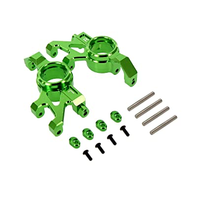 Atomik RC Alloy Steering Block Green fits The Traxxas X-Maxx Replaces Traxxas Part 7737 RC Car & Truck Parts: Toys & Games