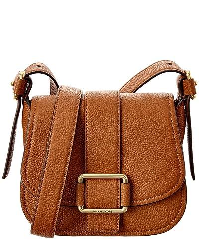 84f9b622a2e73 MICHAEL Michael Kors Damen Maxine Leder Satteltasche Gepäck Ein Größe   Amazon.de  Schuhe   Handtaschen