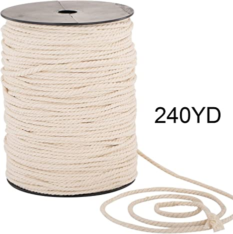 Cream Cord 16 mm all purpose cord 100/% natural rope Twisted Cotton Rope