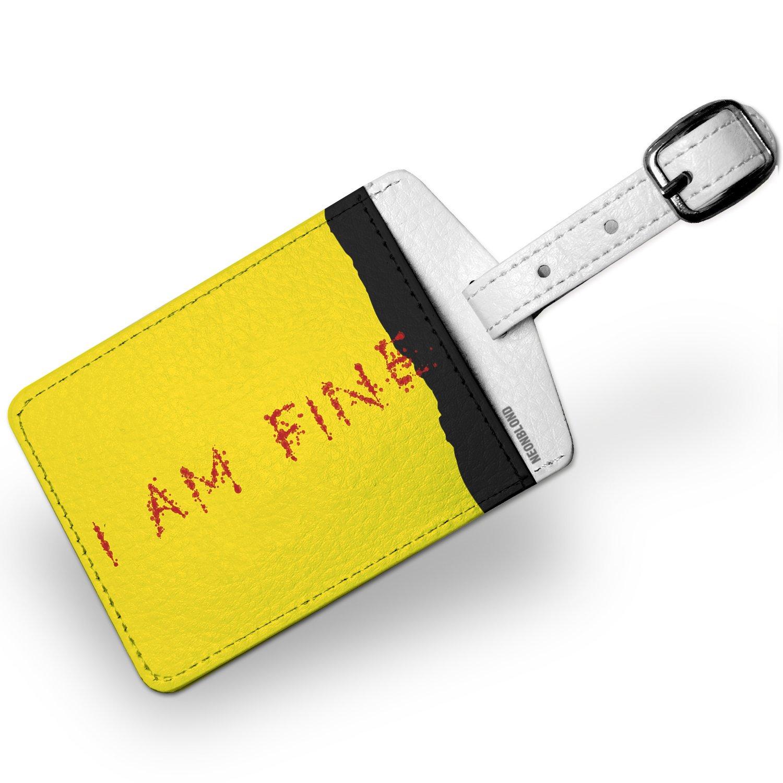 Luggage Tag I Am Fine Blood Splatter Kill Bill - NEONBLOND