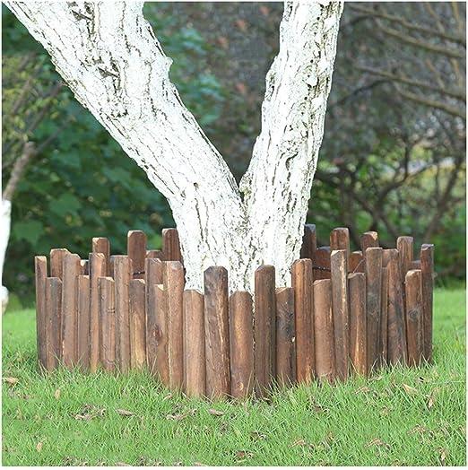 ZHANWEI Valla de jardín Bordura de jardín Al Aire Libre Césped Paisaje Madera Carbonizada Flexible Cama De Flores Frontera Decoración, Tamaños Múltiples (Color : Brown, Size : 120x10/15cm): Amazon.es: Jardín