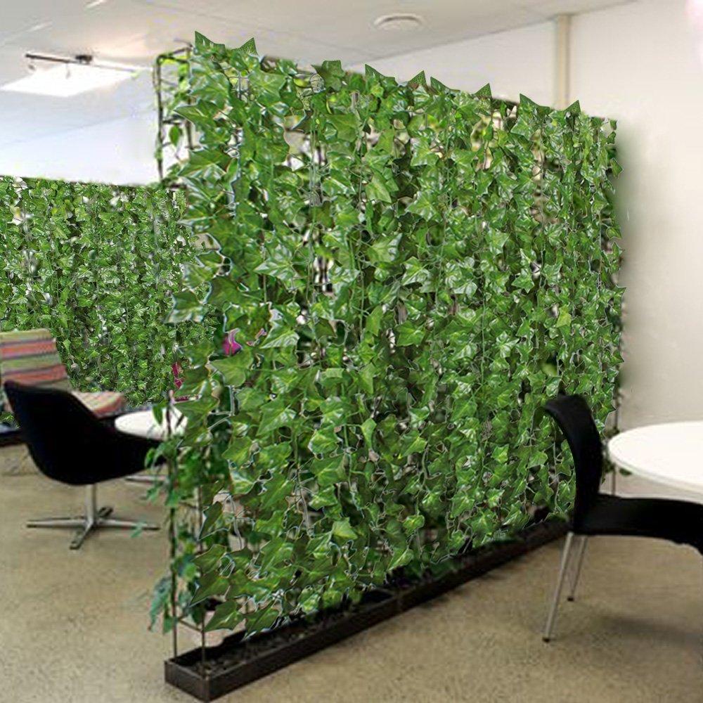 Amazon MIHOUNION 12 Stück Künstliche Efeu Seide Blätter Hängen