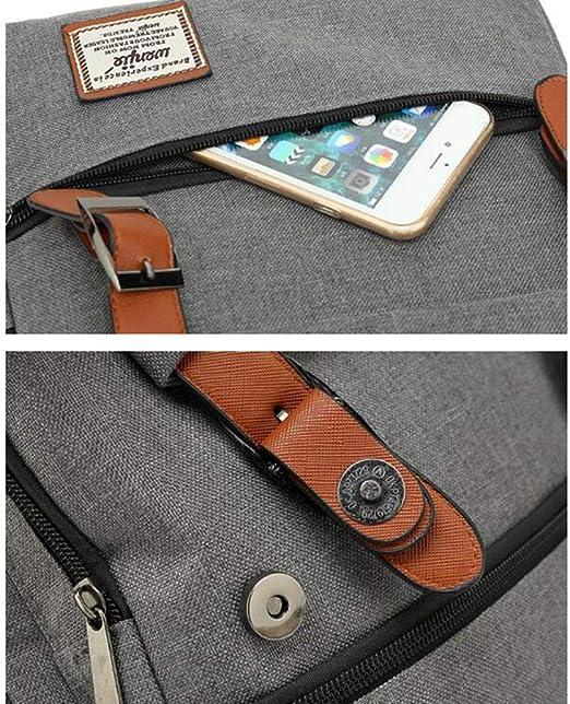 Mochila de Lona para el Hombro con Cable USB y Bolsa para l/ápices y candados para Adolescentes y ni/ñas de Javr H^/á-r^r-y P^ō-t^t-/êr Hogwarts /…