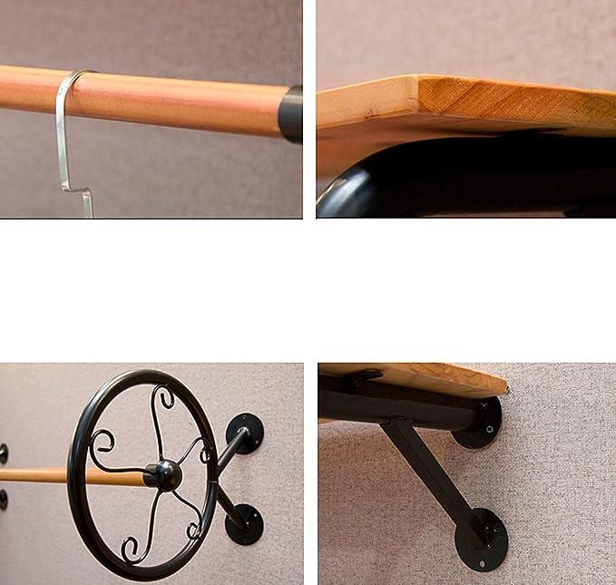 Amazon.com: Perchero de madera maciza para colgar ropa de ...