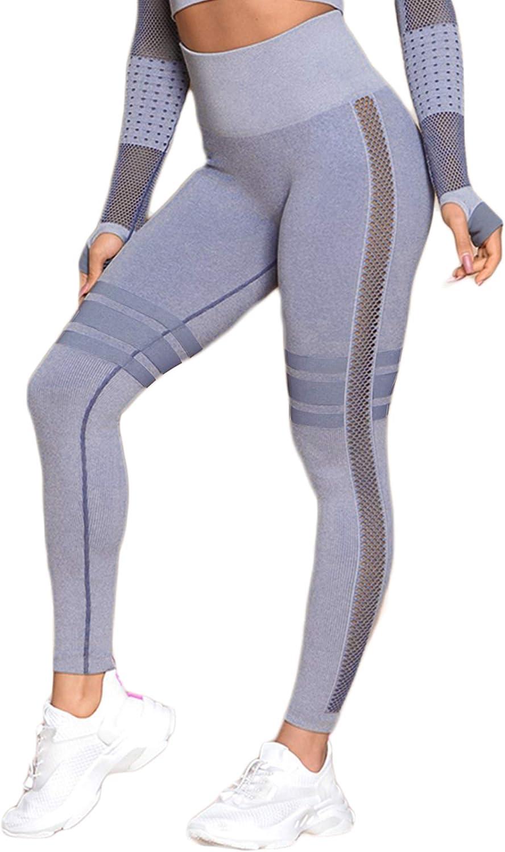 Saejous Seamless Leggings Womens High Waist Yoga Camo Workout Fitness Gym Pants