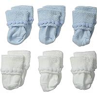 Jefferies Calcetines unisex para recién nacido, con punto de burbuja, paquete de 6 pares